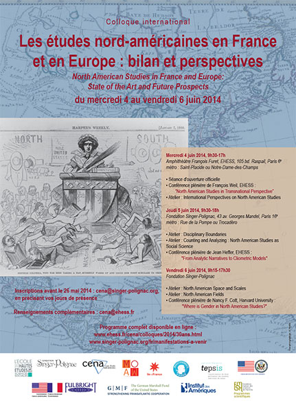 4-6 juin 2014: North American Studies in France and Europe: State of the Art and Future Prospects. International conference.